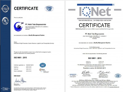 Certificate ISO 9001 : 2015